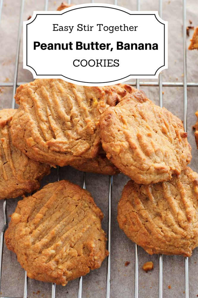 Banana Peanut Butter Cookies | My Kitchen Stories