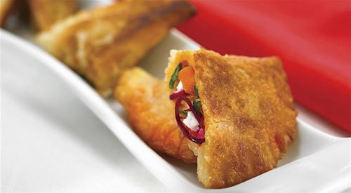 Goat s cheese and vegetable empanadillas