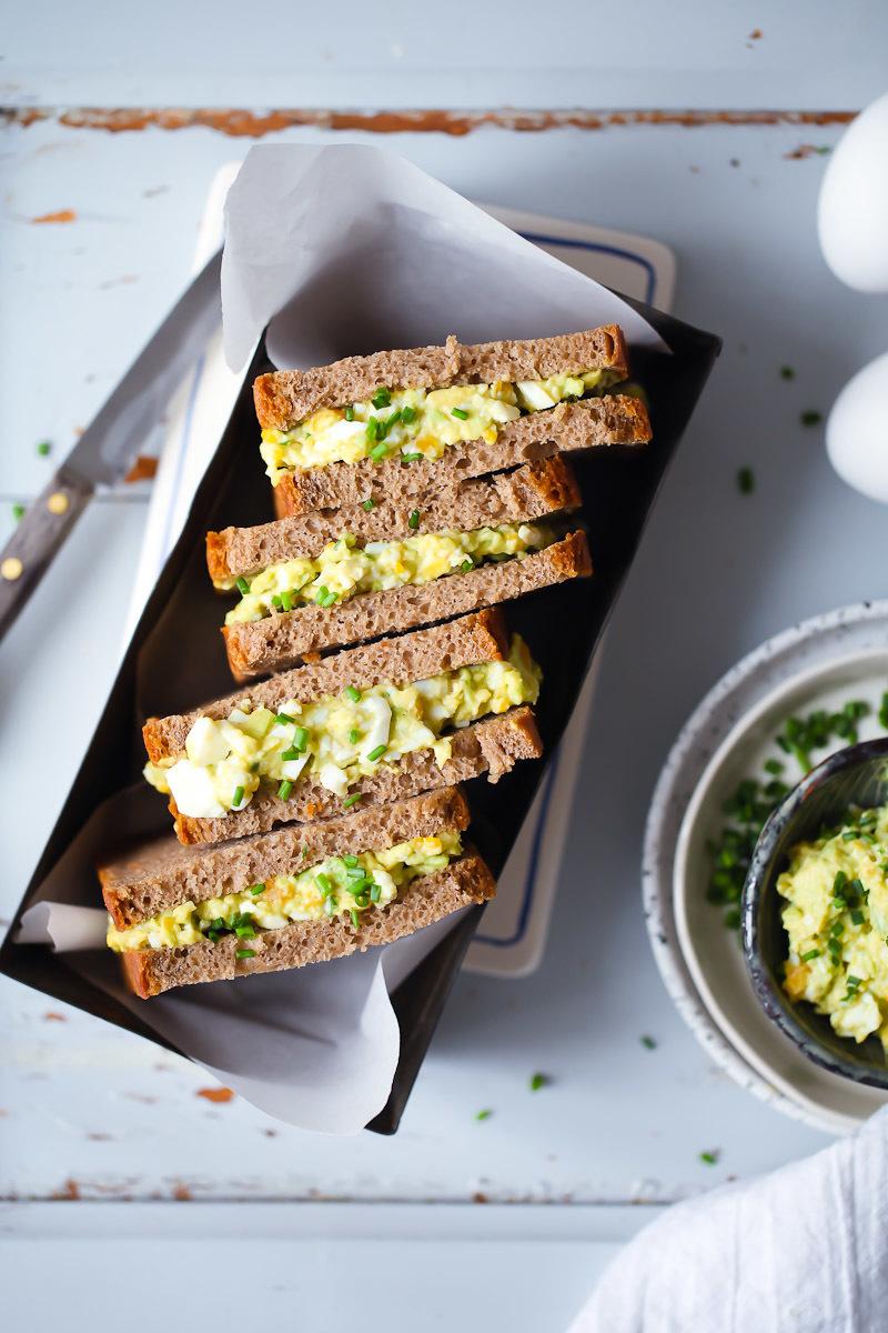 Avocado-Eiersalat Stulle Rezept | Zucker, Zimt und Liebe