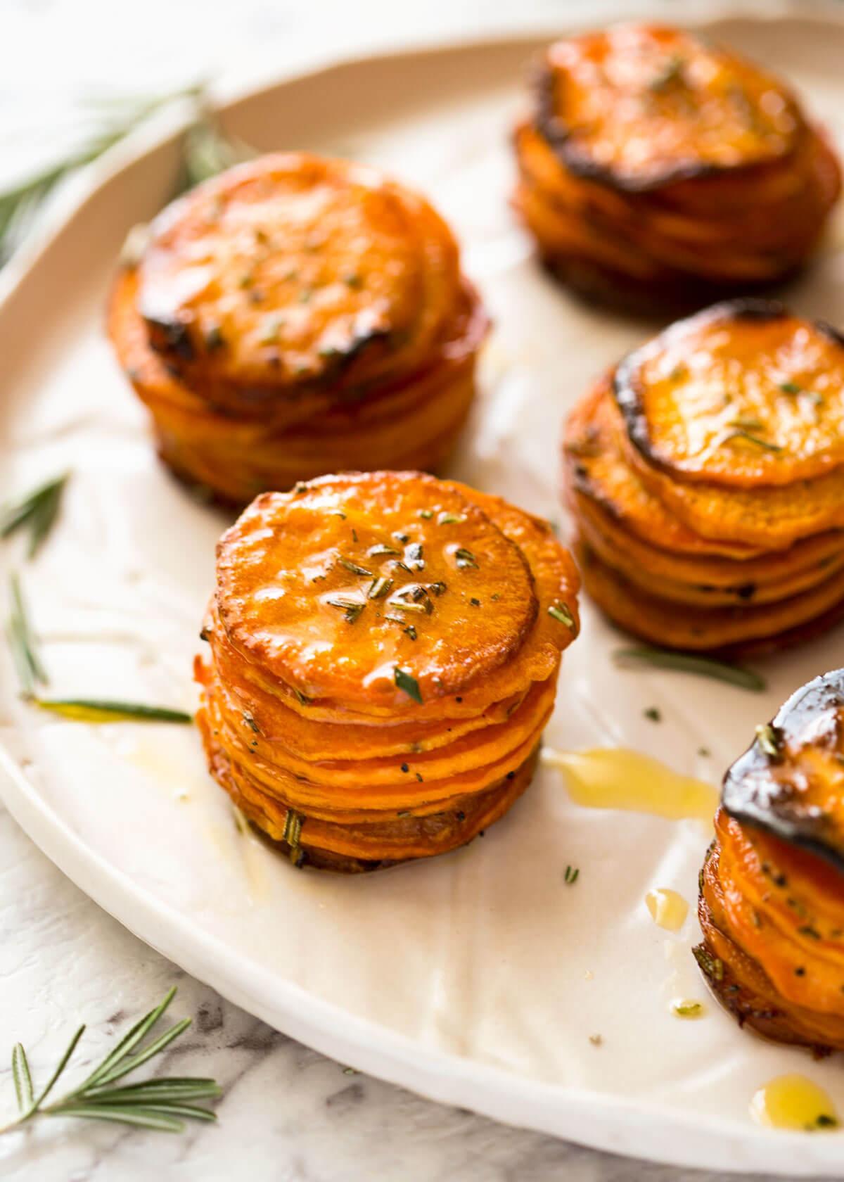 Roasted Sweet Potato Stacks | RecipeTin Eats