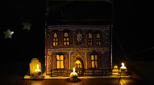 A haunted sugar cookie doll house
