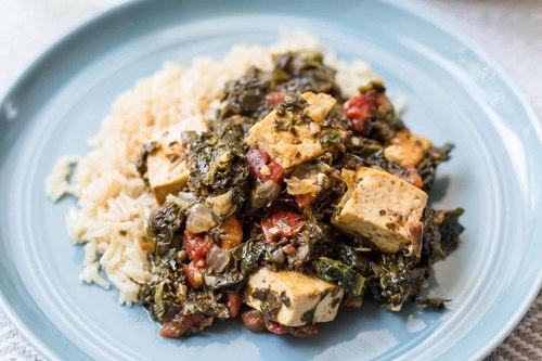 Pressure cooker saag tofu recipe simplyrecipes.com