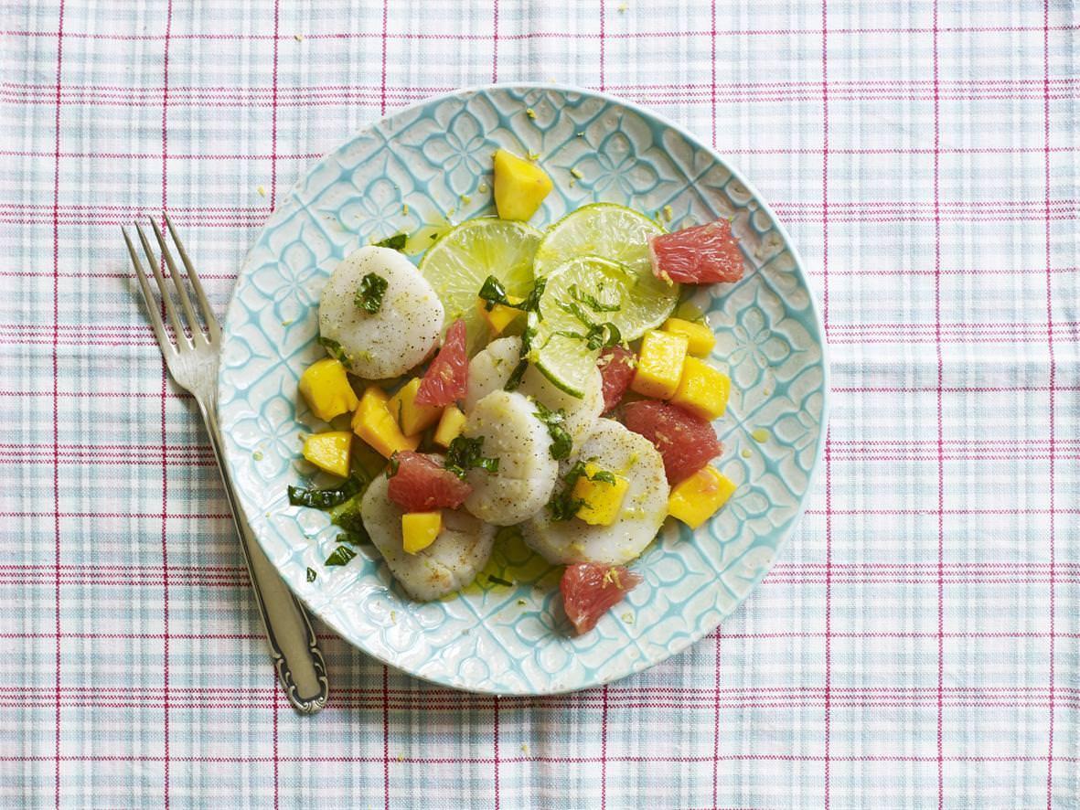 Rezept: Jakobsmuscheln mit Früchten | NZZ Bellevue