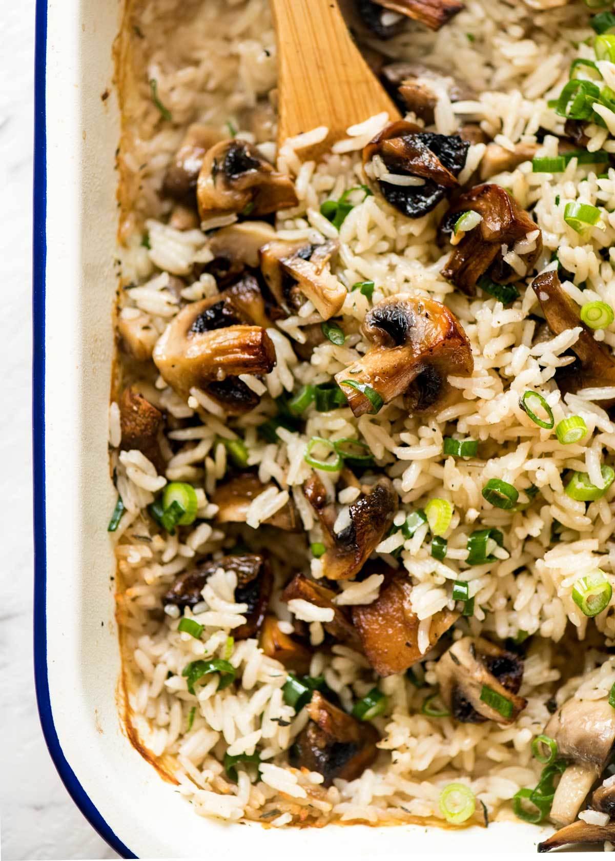Baked Mushroom Rice | RecipeTin Eats