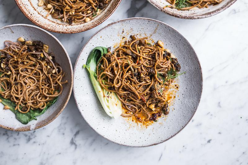 Hot Mushroom Dan Dan Noodles + Philips Pasta And Noodle Maker Giveaway - Cook Republic