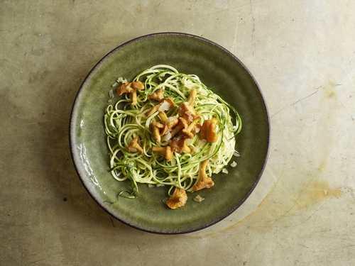 Rezept zucchetti spaghetti mit pilzen nzz bellevue