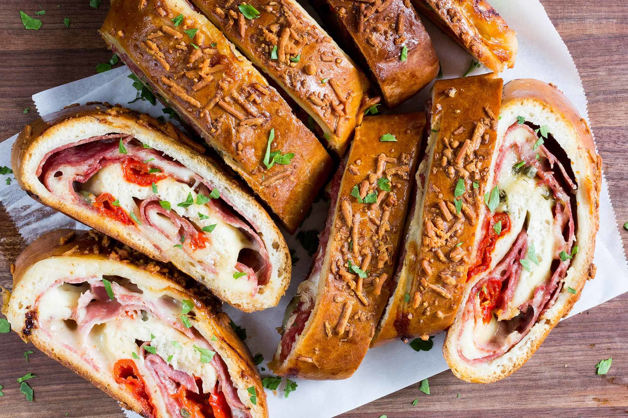 Easy Stromboli Recipe | SimplyRecipes.com